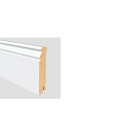 ALTBERLINER PROFIL 60 MDF Bílá délka 2,5m / cena za bm Soklová lišta