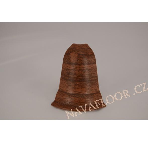 Roh (venkovní) k soklové liště SLK 50 W139 Ořech