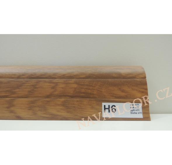 Plastová lišta PREXA 54 H6 dub