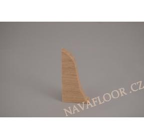 Koncovka levá k soklové liště SLK 50 W131 Jasan kristal