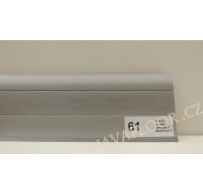 Plastová lišta PREXA 54 61 Metalic