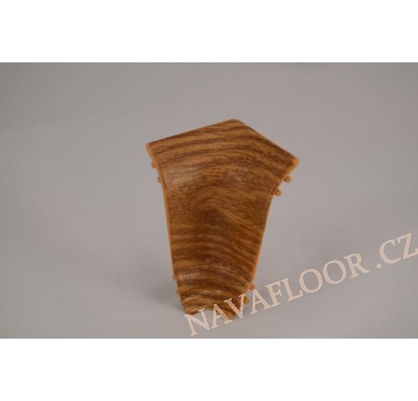 Kout (vnitřní) k soklové liště SLK 50 W475 Ořech pravý