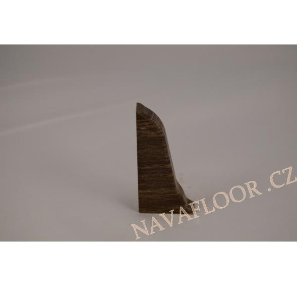 Koncovka levá k soklové liště SLK 50 W472 Pekan grafitový
