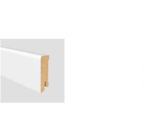 Soklová lišta Modern 58 16x58 MDF Bílá délka 2,5m / cena za bm