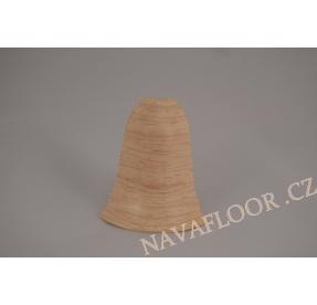 Roh (venkovní) k soklové liště SLK 50 W131 Jasan kristal