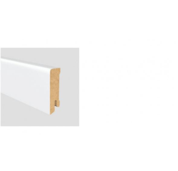 Soklová lišta Modern 60 19x60 MDF Bílá délka 2,5m / cena za bm