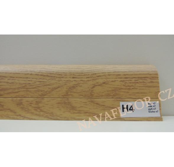 Plastová lišta PREXA 54 H4 dub