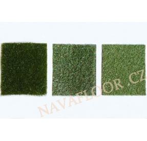 VZORKY Umělý travní koberec výběr SADA