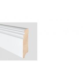 ALTBERLINER PROFIL 58 BÍLÝ LAK NA BOROVICI délka 2,4m / cena za bm Soklová lišta
