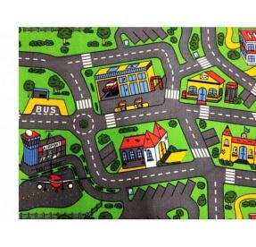 Dětský hrací koberec CITY LIFE řez 4m x 3m VÝPRODEJ