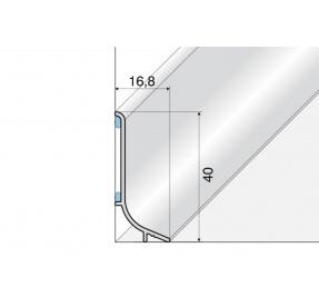 Soklový hliníkový profil 40mm délka 270cm E01 STŘÍBRO Q63-2701 2