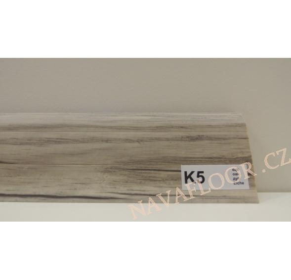 Plastová lišta PREXA 54 K5 dub