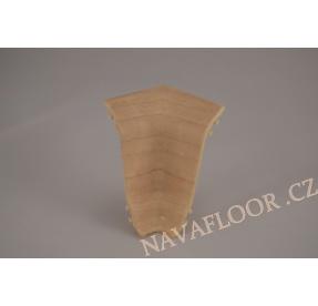 Kout (vnitřní) k soklové liště SLK 50 W132 Javor newport